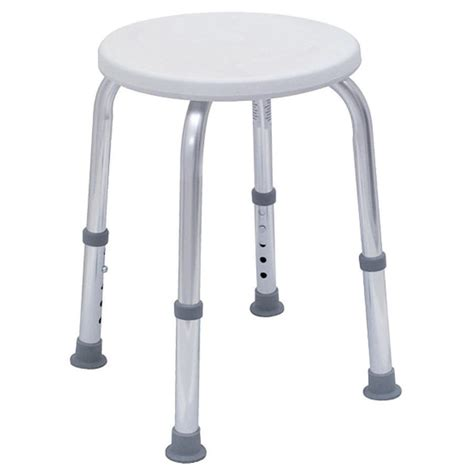 shop dmi whitechrome plastic freestanding shower seat