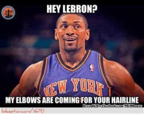 Ron Artest Meme - your hairline jokes kappit
