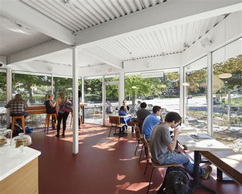 Coffee shop in ann arbor, michigan. Glassbox Coffee - Ann Arbor | BKSK Architects