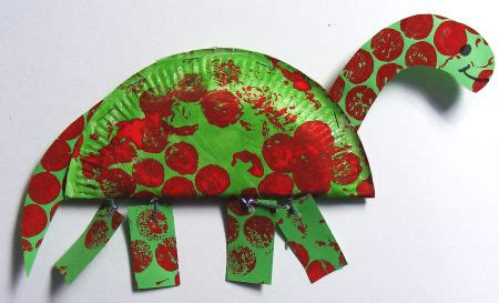 paper plate diplodocus