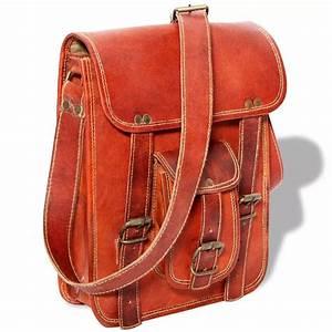 Sac Bandoulière Cuir Marron : acheter vidaxl sac bandouli re pour ordinateur portable 7 cuir marron pas cher ~ Melissatoandfro.com Idées de Décoration