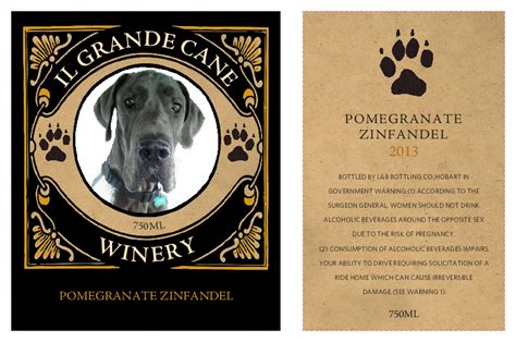 free announcement maker make your own wine labels with your photos grogtag