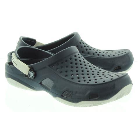 crocs mens swiftwater deck shoes  navy  navy