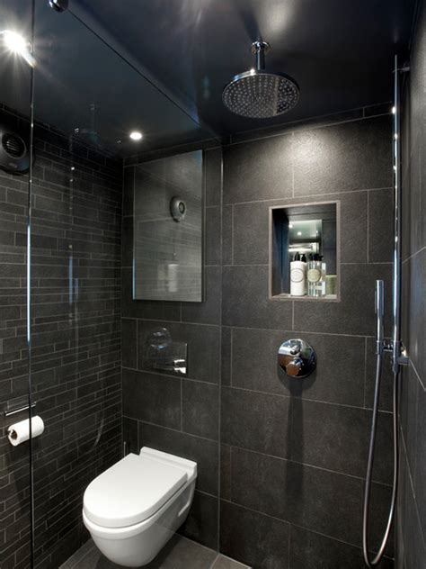 room bathroom design ideas small wet rooms designs ideas with black tiled wall also huge shower design and white floating