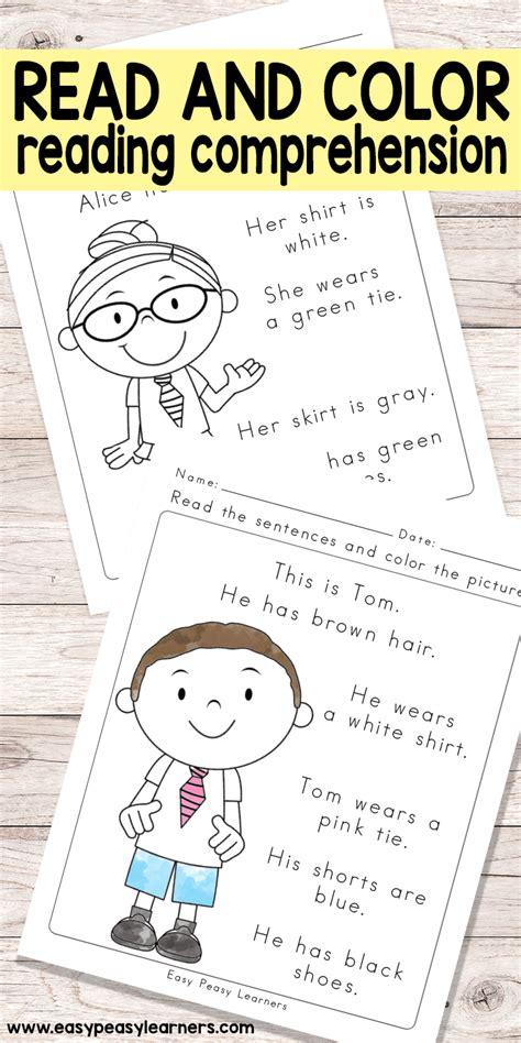 read color reading comprehension worksheets for grade 1