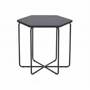 Table D Appoint Canapé : 20 sur table basse d appoint bout canap hexagone noir ~ Teatrodelosmanantiales.com Idées de Décoration