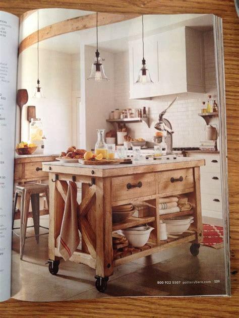 pottery barn kitchen island home ideas