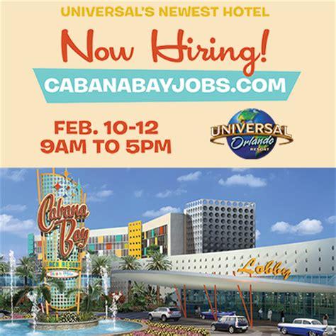 universal orlando human resources phone number universal s cabana bay resort grand hire event