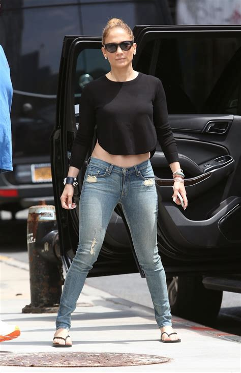 jennifer lopez casual  jeans popular actress