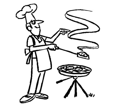 Barbeque Kleurplaten by Barbecue Coloring Page Coloringcrew