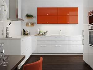Cuisine Blanche Ikea : cuisine blanche et vitamin e metod ringhult blanc brillant et j rsta orange brillant la ~ Preciouscoupons.com Idées de Décoration