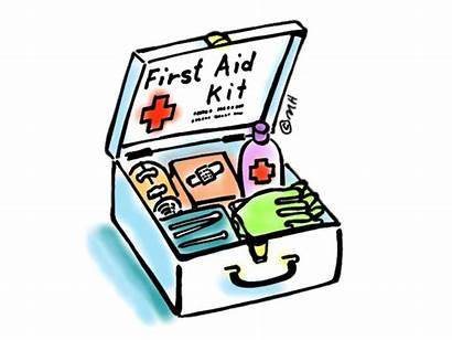 Aid Kit Emergency Drawing Clipart Cartoon Coloring