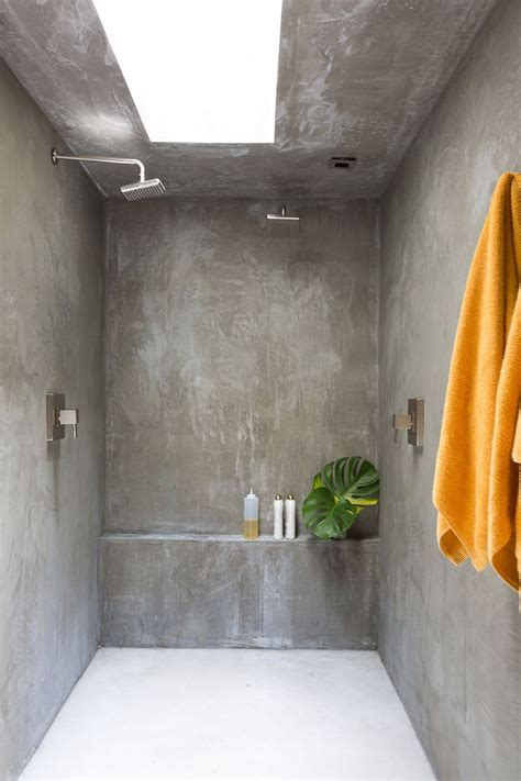 bathroom walls  finished  concrete photo laure