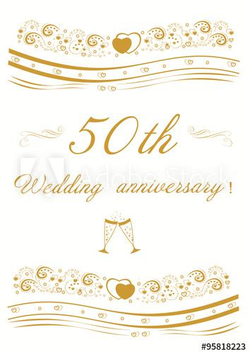 """50th Wedding anniversary Invitation editable vector"