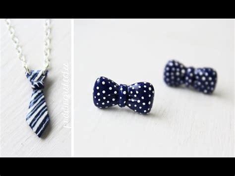 comment faire un collier cravate et boucles d oreille noeud en fimo tuto fimo net