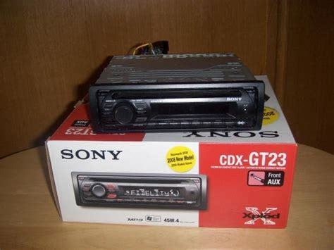 sony cdx gt23 radio cd mp3 player xplod din in dash