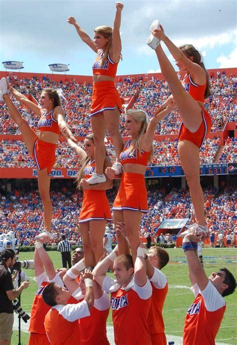 Florida Gators College Cheerleading Stunts