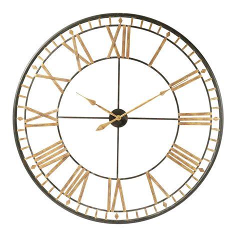 cuisine exotique horloge en métal d 120 cm la vallière maisons du monde