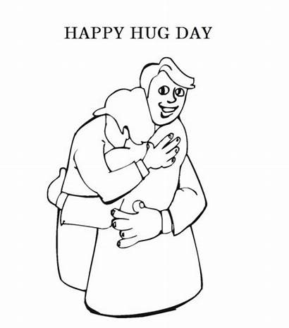 Coloring Hug Pages Printable Hugs Colouring