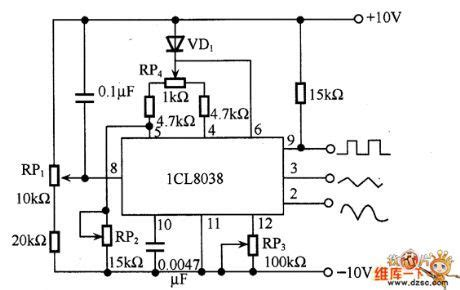 Function Generator Circuit Diagram With Icl