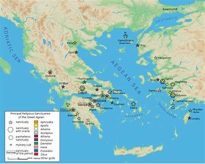 Map Classical Greek Sanctuaries Ancient Google Greece