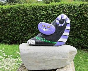 Steine Bemalen Katze : stein katzen ~ Watch28wear.com Haus und Dekorationen