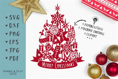 Free 3d christmas tree models available for download. Assorted Christmas Tree - SVG EPS DXF PNG PDF JPG Cut File ...