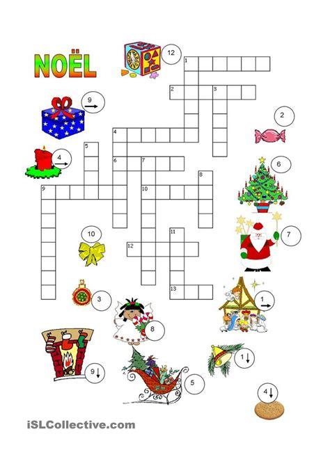 Noël Mots Croisés  Français  Pinterest  Awesome, Studentcentered Resources And Christmas