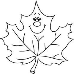 Fall Leaf Clip Art Black and White