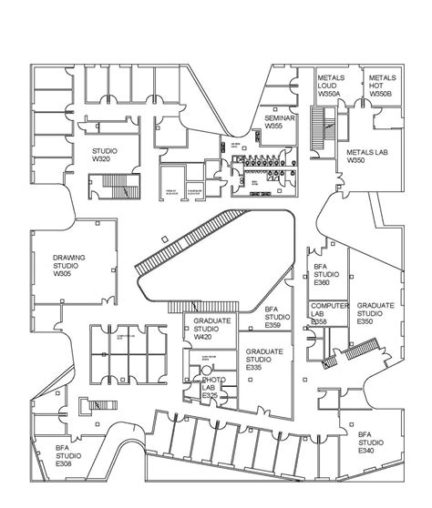 floor plans visuals visual arts building floor plans school of art and art history luxamcc