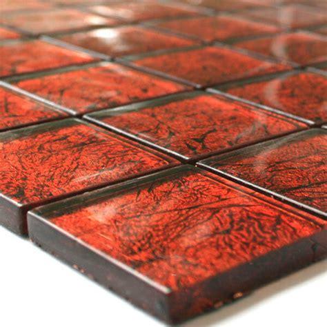 mosaik fliesen rot glasmosaik fliesen mosaik glasfliesen rot metall ebay