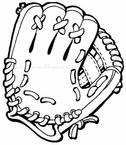 Coloring Pages Baseball Printable Softball Printables Glove