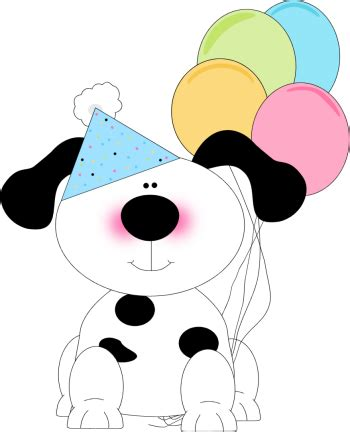 cute birthday dog clip art cute birthday dog image