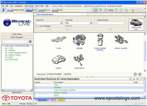 Toyota Lexus Live 2012 Spare Parts Catalog Spare Parts