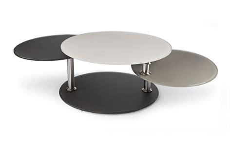 canapes convertible table basse design busra avec plateau pivotant rond deco