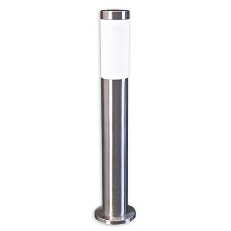 solar led outdoor l post new solar stainless steel post light 60cm garden driveway