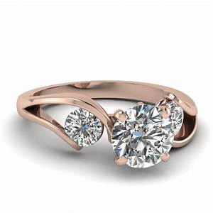 round cut diamond engagement rings with white diamonds in With tension wedding rings