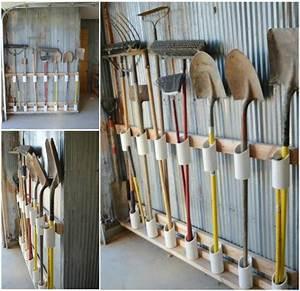Rangement Outils Garage : range outils de jardin et organisation du garage ~ Melissatoandfro.com Idées de Décoration