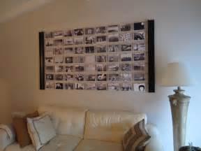 fotowand gestalten diy photo wall décor idea diyinspired