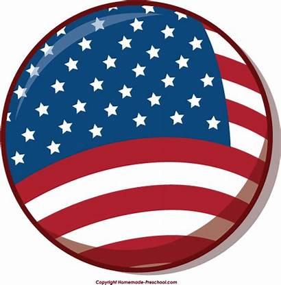 Flag Circle American Clipart Flags Bubble Homemade