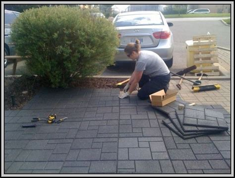 Rubber Paver Tiles Canada by Rubber Patio Pavers On Grass Patios Home Decorating