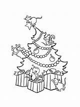 Coloring Tree Christmas Pages Printable Holiday Recommended sketch template