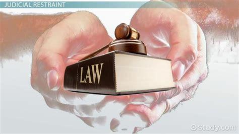 judicial activism  judicial restraint video lesson