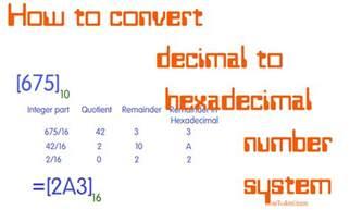 How to Convert Decimal to Hexadecimal Numbers