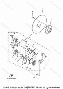 Yamaha Atv 2007 Oem Parts Diagram For Rear Brake Caliper
