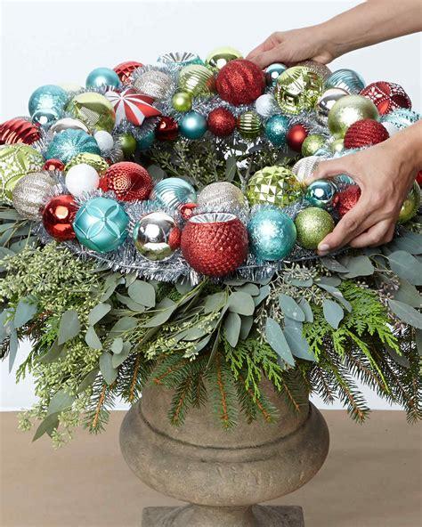 martha stewart white christmas ornaments ornament wreath urn martha stewart