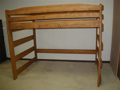 size loft bed plans loft bed our boardwalk size storage loft offers