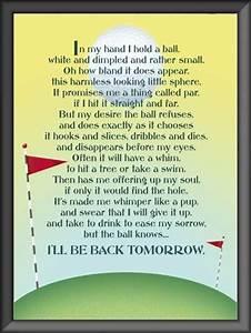 Funny Golf Poem Great Gift Idea for Golfer