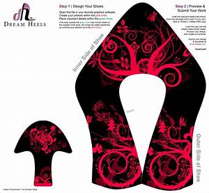 high heel paper shoe template crafts pinterest paper With high heel shoe template craft