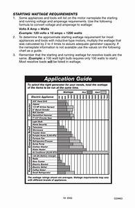Application Guide  Starting Wattage Requirements